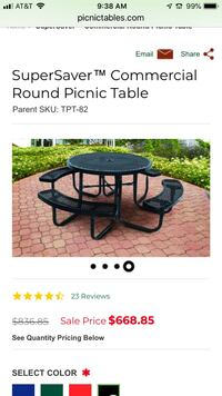 New round metal table with seats Las Vegas, 89103