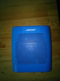 blue Bose bluetooth speaker