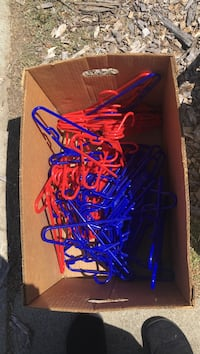 blue and red plastic clothes hanger lot with box San Jose, 95119