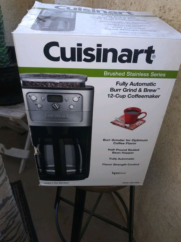Cuisinart coffer maker with grinder new in the box c97d850c-c5c8-4e24-947d-f4685c528a8e