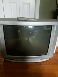 gray CRT TV with remote Kitchener, N0B