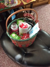Red and green holiday basket Sayville, 11782