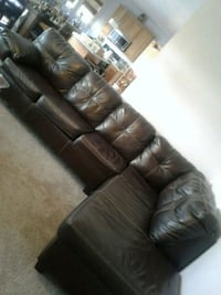 Brown vinyl sectional couch  Stafford, 22556