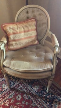brown wooden framed brown leather padded armchair Hagerstown, 21740