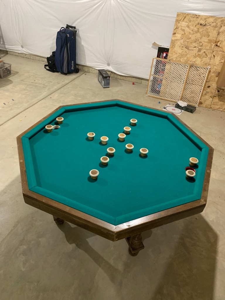 Bumper Pool, Poker Table With Balls