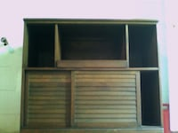 Entertainment cabinet: real walnut wood PHILADELPHIA