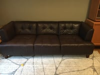 Mid-century modern style leather couch and chair Springfield, 22153