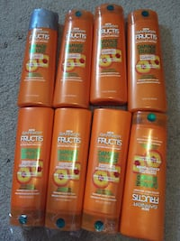 Garnier Fructis shampoo and conditioner bottle lot