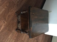 brown wooden 2-drawer nightstand CALGARY