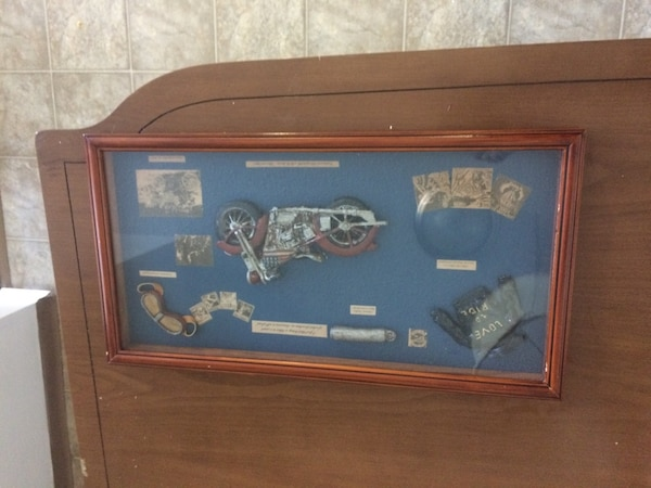Classic motorcycle shadow box