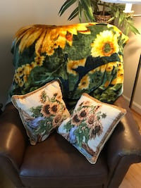 brown, green, and red floral throw pillow Leesburg, 20176