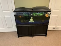 black framed clear glass fish tank Fort Washington, 20744