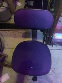 purple and black rolling armchair Eugene