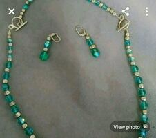 Necklace , earrings set ( hand made)
