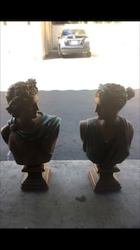 Greek statues set, both have a small chip in the back, but other then that, it's in good condition, take home 1 for 35 or both for 50,  Laguna Niguel, 92677