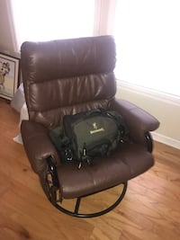 black leather padded rolling chair Woodbine, 21797