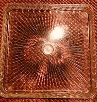 Thick glass vintage textured beautiful platter Silver Spring, 20904