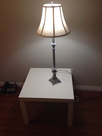 Ikea table and lamp $15 Calgary, T3A 5N2