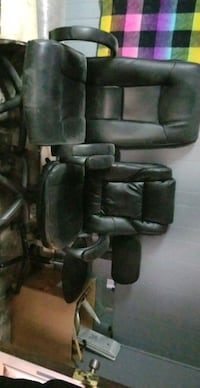 Black leather rolling office chairs or gamers chairs!!