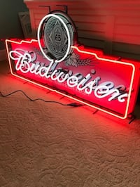 red and white Budweiser neon signage ARLINGTON