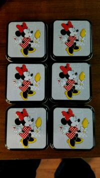 Lot of 6 collectible Disney Tins