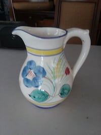 white and blue ceramic pitcher Hebron, 06248