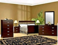 8 pcs Queen Bedroom Set. 26 Colors to Choose from.