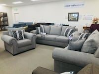 Gray fabric sectional sofa with throw pillows Rocklin, 95677