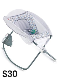 baby's gray and white bouncer Frederick, 21703