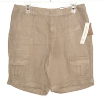 Have one to sell? Sell now  Details about   NWT $50 Coldwater Creek Natural Fit Natural Linen Blend Cargo Shorts 10 Cuffed  JOLIET