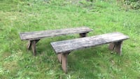 Two sturdy wood benches 2325 mi