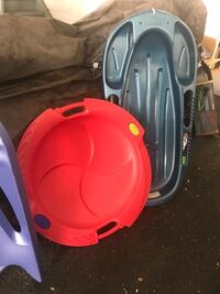 2 heavy duty sleds one is a 2 person sled Secaucus