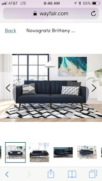 New novogratz Brittany convertible futon, navy blue Columbus, 43016