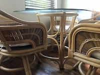 Bamboo table and chairs (dining room set) Miami Beach, 33141