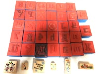 39 Rubber/Foam/Wooden Double Sided Stamps (33 Rubber/Foam & 6 Wooden) Minnie, Mickey, Olaf, Sports, Number's & Complete Alphabet Stamps!   Visalia, 93292