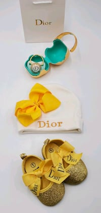 DESIGNER BABY SET - Hat, Shoes, Pacifier & Case!