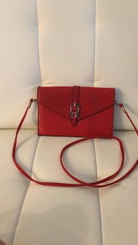 Small Red Cross body purse