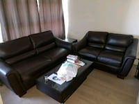 Brown Leather Couch and Loveseat Calgary, T3M