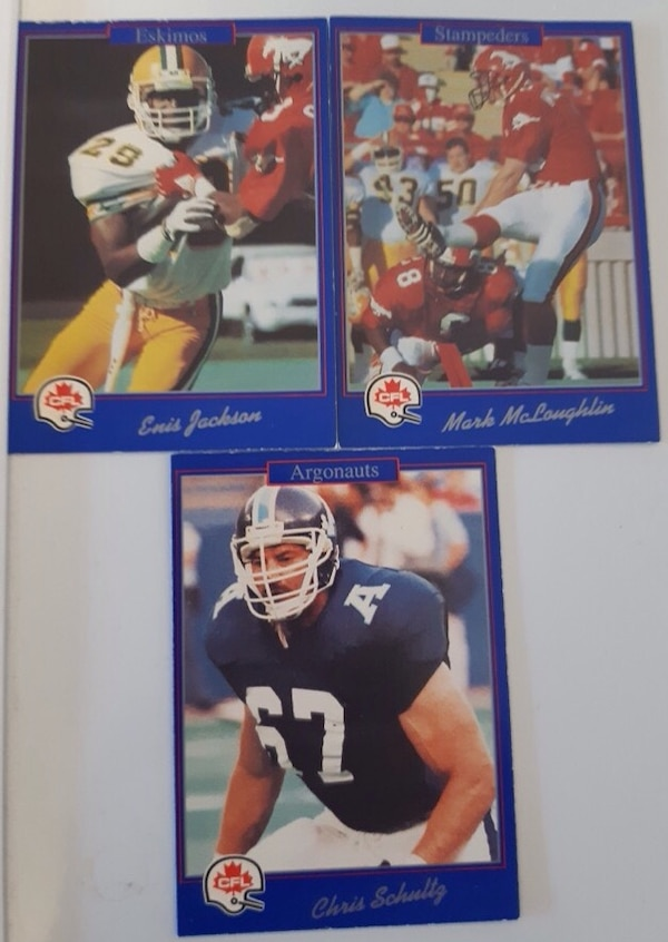 3 CFL Football Cards $3 Firm For All 3 Cards.