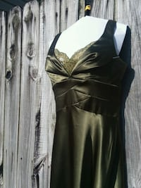 Green Satin with Gold Lace Trim Gown  Fayetteville, 72703