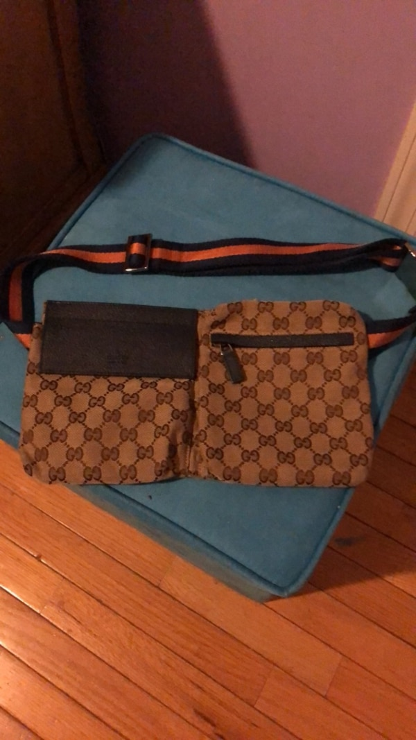 1d7b86e38484 Used brown and black Gucci monogram tote bag for sale in New York ...