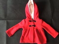 Toddler's red and white hoodie. Size 12/18 months  7 km