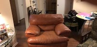 brown leather recliner sofa chair Hyattsville, 20785