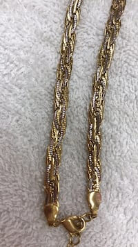 Chain gold plated ,long 23 inch ,good condition  Calgary, T2B 3G1