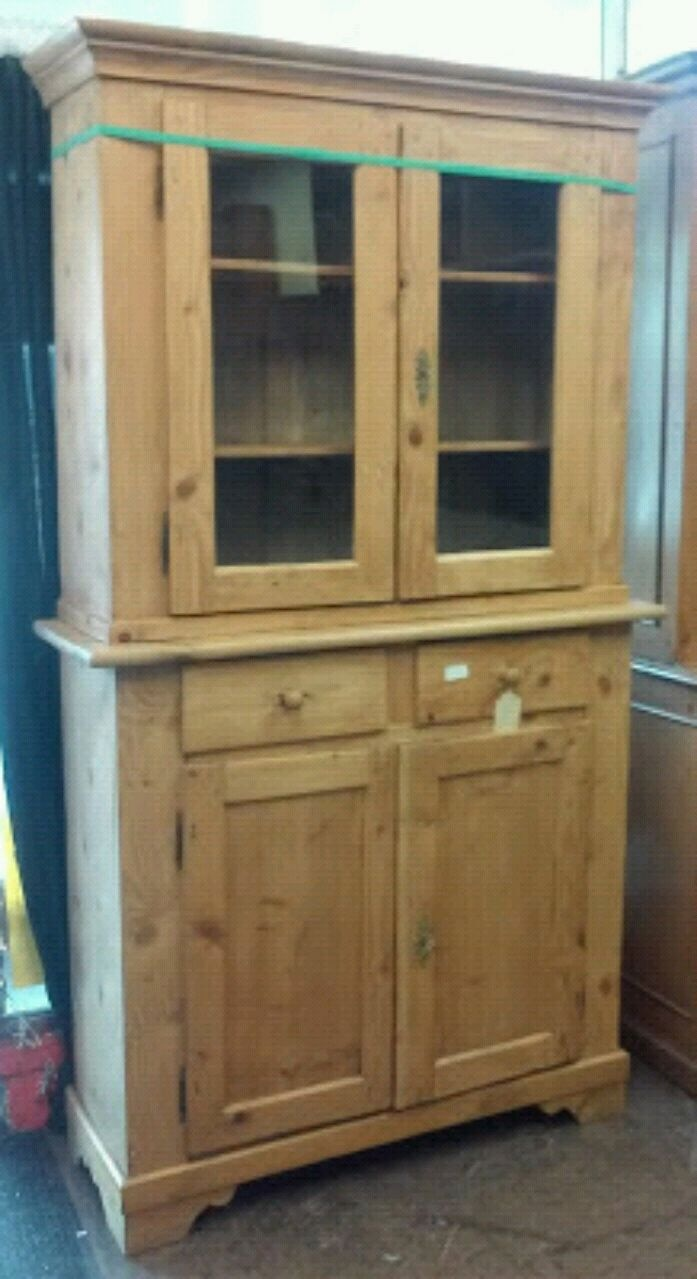 Used #22649 2 Piece French Antique Pine Hutch For Sale In Oakland