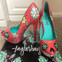 """NEW in box size 7 Taylor Reeves day of the dead 6"""" high heels Fair Oaks, 95628"""