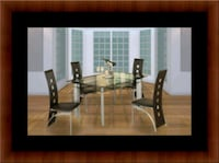 Glass dining table with 4 chairs 55 km