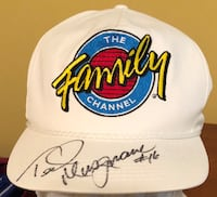 Ted Musgrave #16 Family Channel Autographed snapback hat. One size fits all. Brandon, 39042