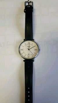 Fossil watch with leather black strap Brampton, L6T 2K3