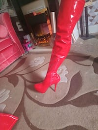 Red Leather PVC Stillettos brand new Leicester, LE3 1BN